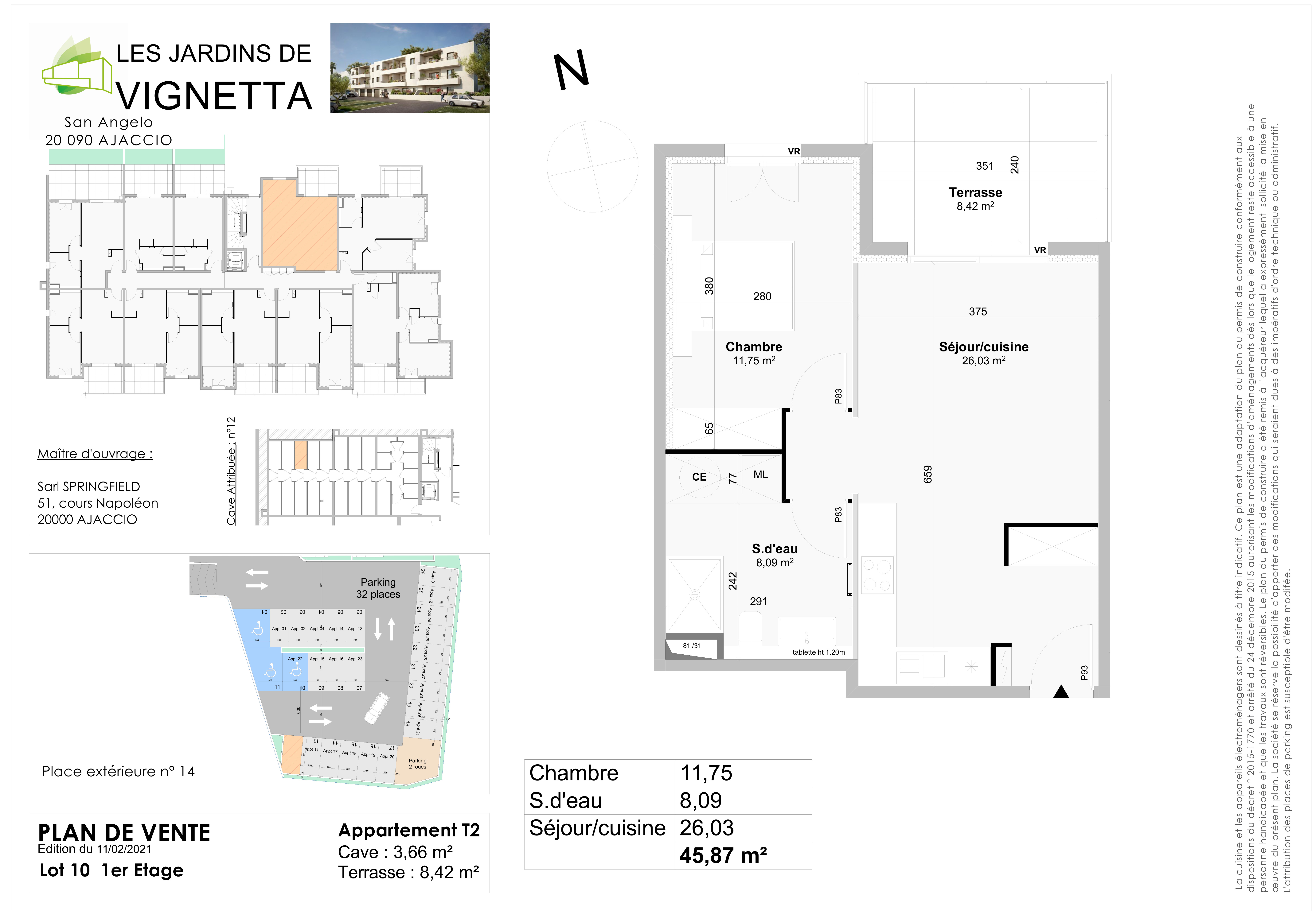 Plan de vente Appartement 10