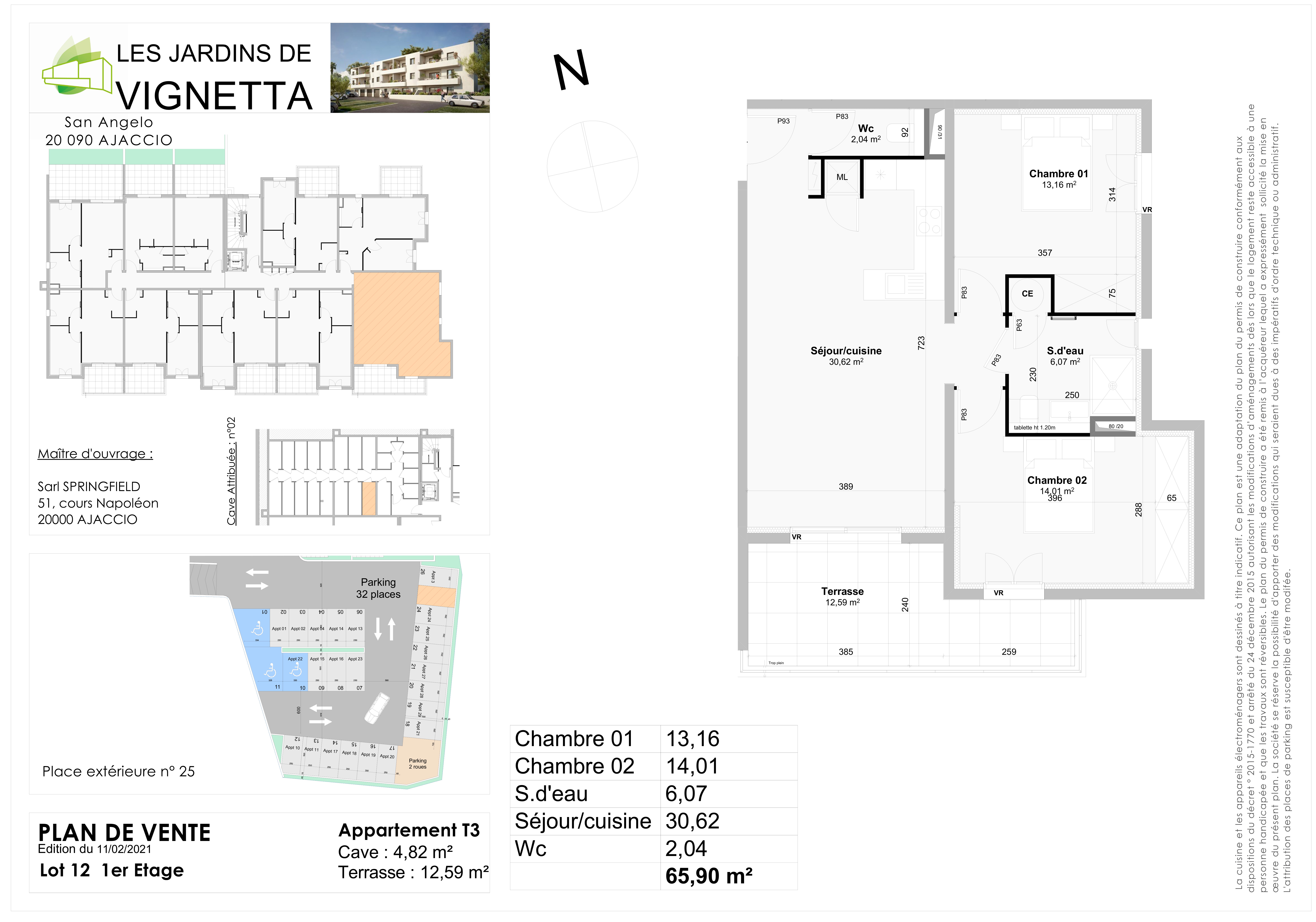 Plan de vente Appartement 12