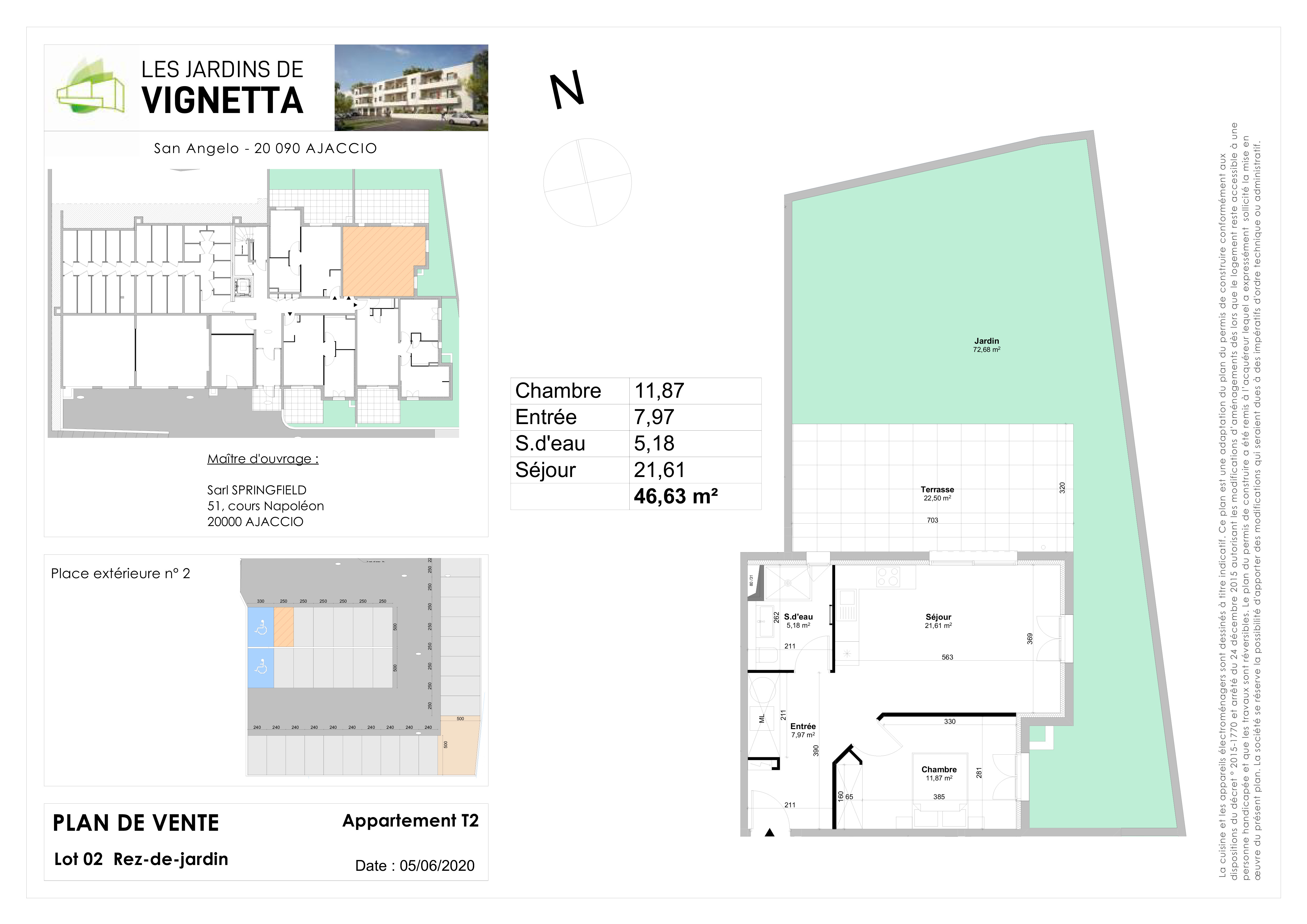 Plan de vente Appartement 2